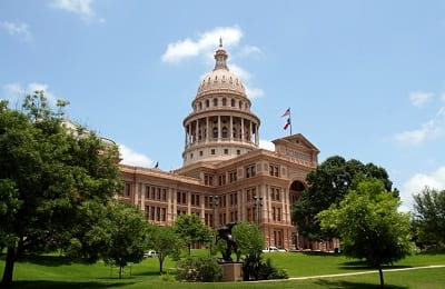 Exterior of the Capitol of Texas in Austin