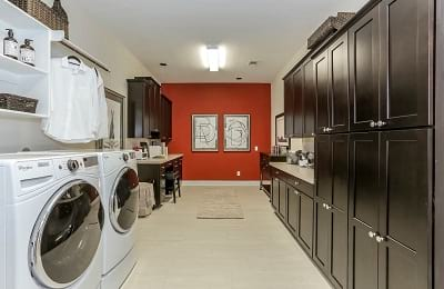 Gehan Homes Big and Spacious Yale Laundry Room with Desk